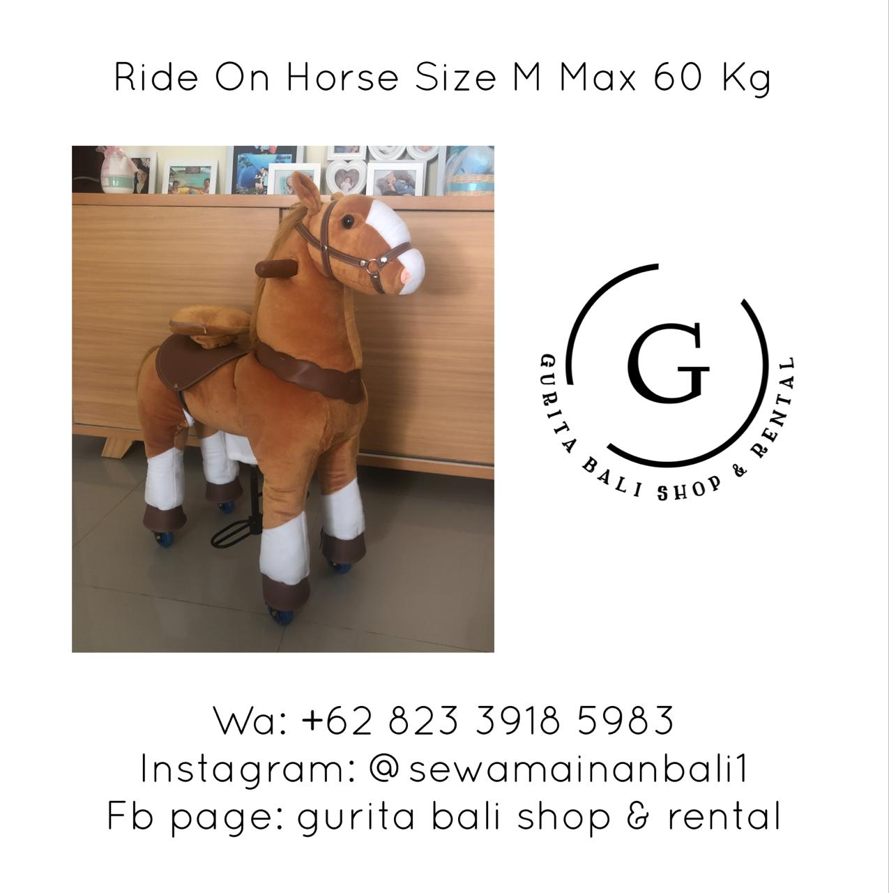 RIDE ON HORSE SIZE M