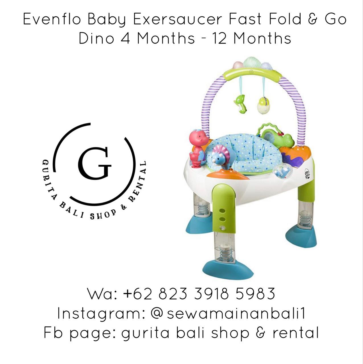 EVENFLO BABY EXERSAUCER FAST FOLD & GO