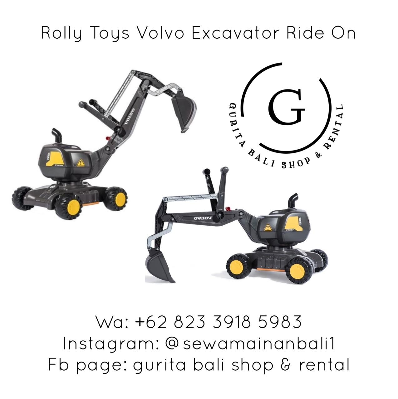 ROLLY TOYS VOLVO EXCAVATOR RIDE ON