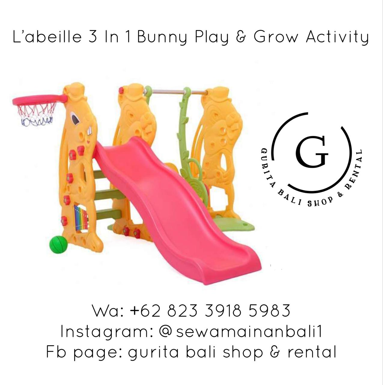 L'ABEILLE 3 IN 1 BUNNY PLAY & GROW ACTIVITY