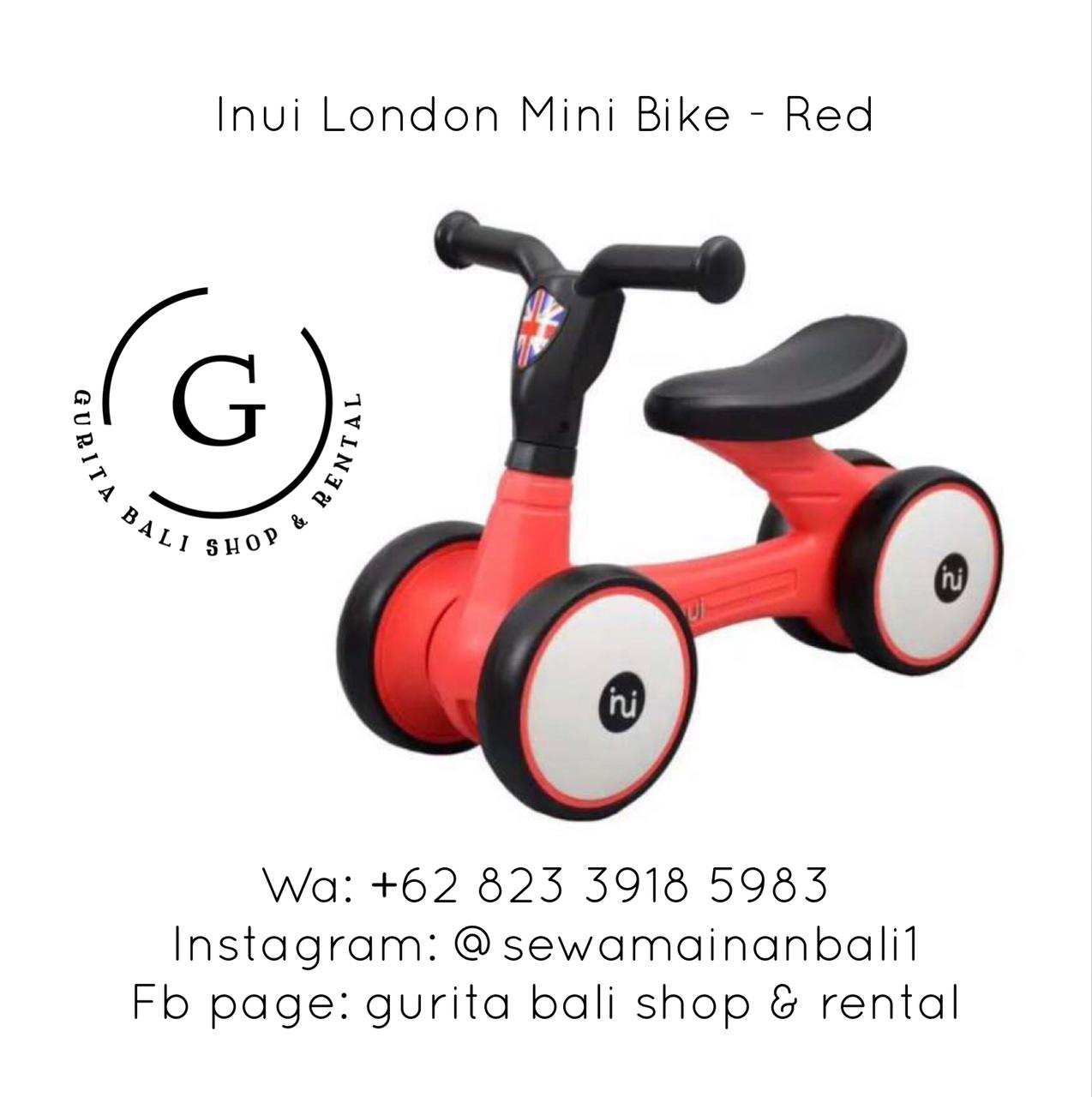 INUI LONDON MINI BIKE - RED
