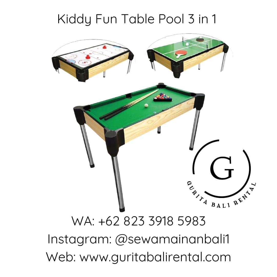 KIDDY FUN TABLE POOL 3 IN 1