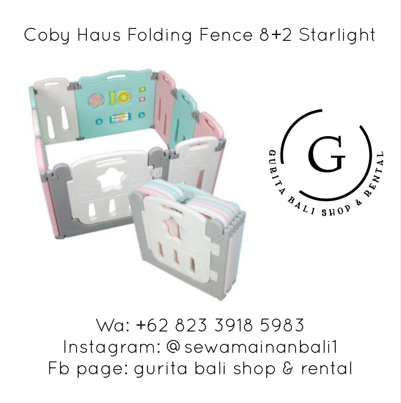COBY HAUS FOLDING FENCE 8 + 2 STARLIGHT 2