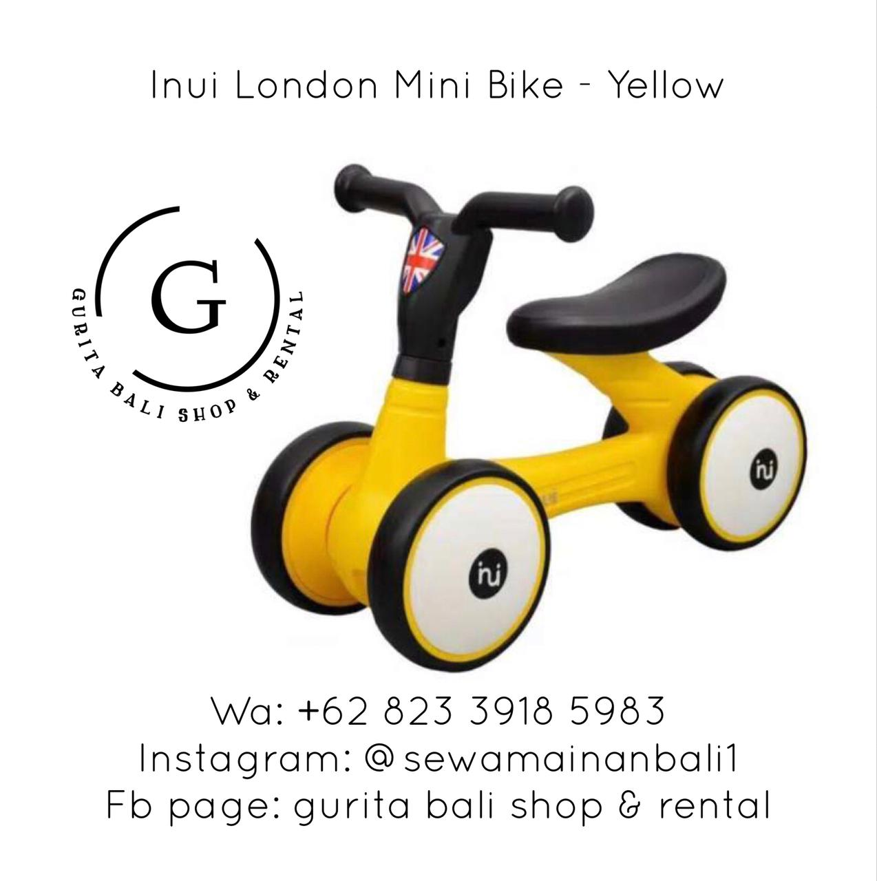 INUI LONDON MINI BIKE - YELLOW