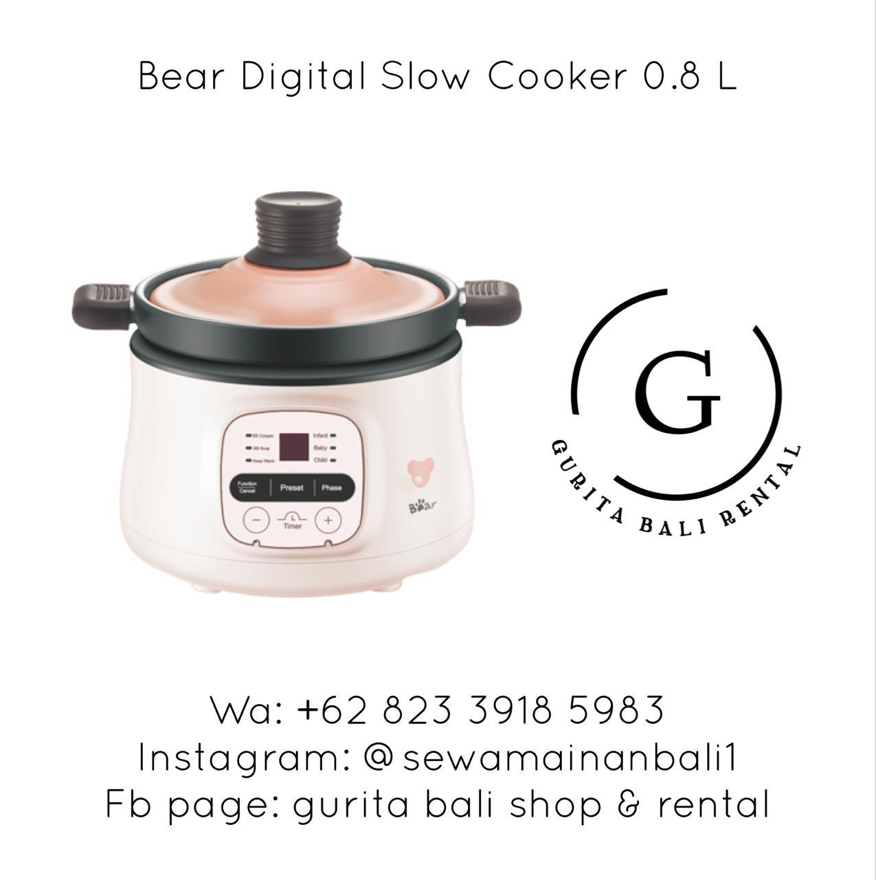 BEAR DIGITAL SLOW COOKER 0.8 L (1)