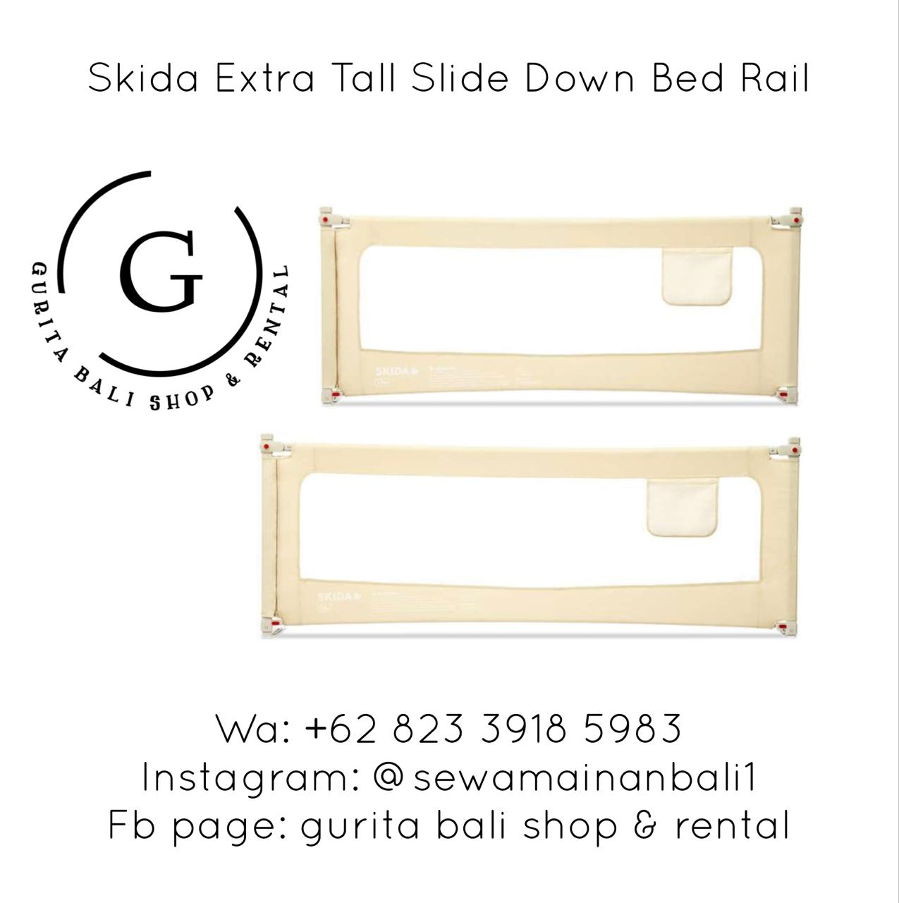 SKIDA EXTRA TALL SLIDE DOWN BEDRAIL SIZE 200 CM (A