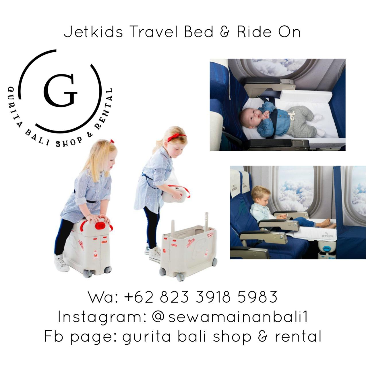 JETKIDS TRAVEL BED & RIDE ON